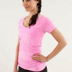 Lululemon Striped Pink Swiftly Tee shirt